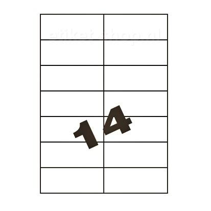 blanco A4-etiketten-14vel-105x424mm