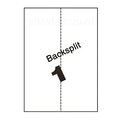 blanco A4-etiketten-1vel-backsplit-210x297mm