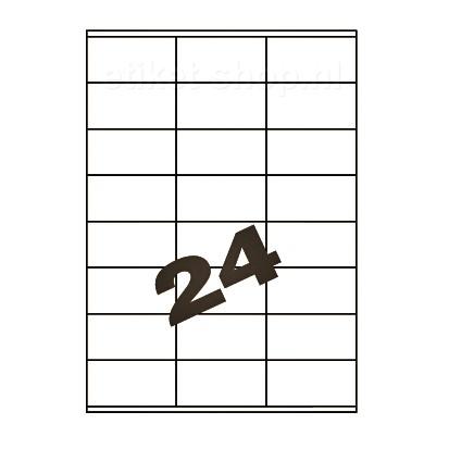 blanco A4-etiketten-24vel-70x36mm