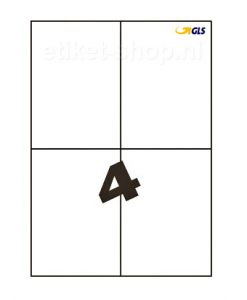GLS-A4-etiketten-4vel-105x148mm