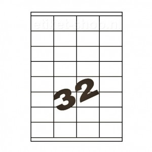 blanco a4-etiketten-32vel-525x35mm