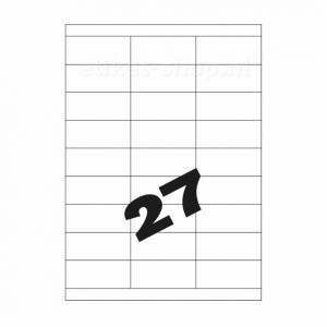 A4 etiketten 27vel, 70x30mm