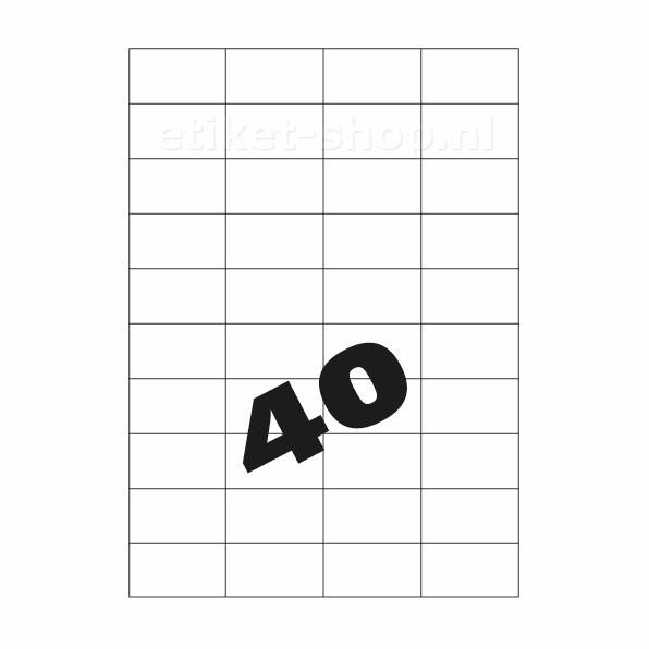 A4 etiketten 40vel, 52,5×29,7mm